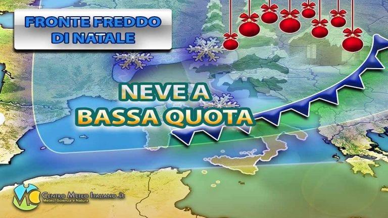 METEO NATALE – NEVE in arrivo in ITALIA con le TEMPERATURE in forte calo, previsioni nei dettagli