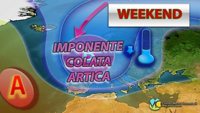 METEO – WEEKEND post NATALE in compagnia del MALTEMPO INVERNALE con NEVE a BASSA QUOTA