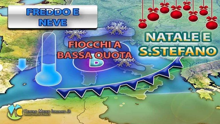 METEO NATALE – irruzione FREDDA alle porte con NEVE in ITALIA, ultimi aggiornamenti