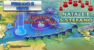 Freddo e neve tra Natale e Santo Stefano, ecco dove