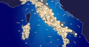Previsioni meteo in Italia per domani 31 dicembre 2020