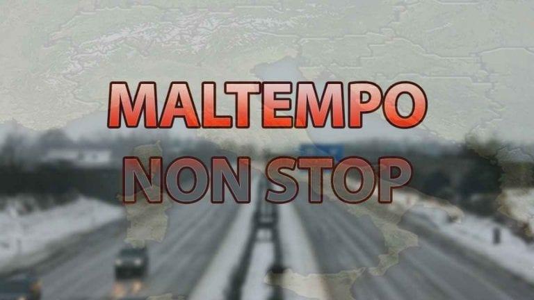 METEO ITALIA – Maltempo e NEVE in atto sul nostro TERRITORIO, ecco le zone interessate