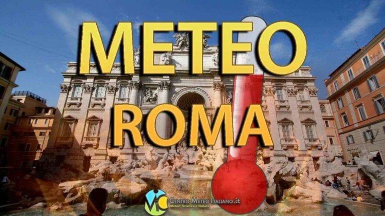 METEO ROMA – Tanto SOLE e CALDO in aumento fino a sabato. Da domenica nuvolosità in arrivo. Le PREVISIONI