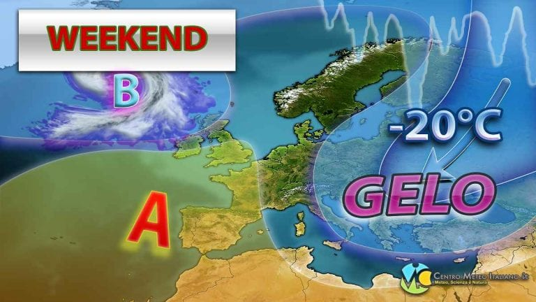 METEO WEEKEND – Temperature in PICCHIATA sull'ITALIA, con neve prevista a quote BASSE su queste ZONE