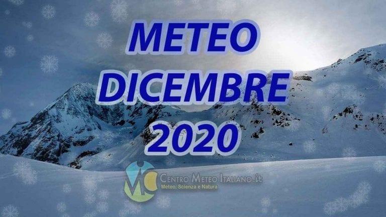 METEO DICEMBRE 2020: non basta il freddo natalizio per invertire il trend positivo, ennesimo mese più caldo del normale in ITALIA