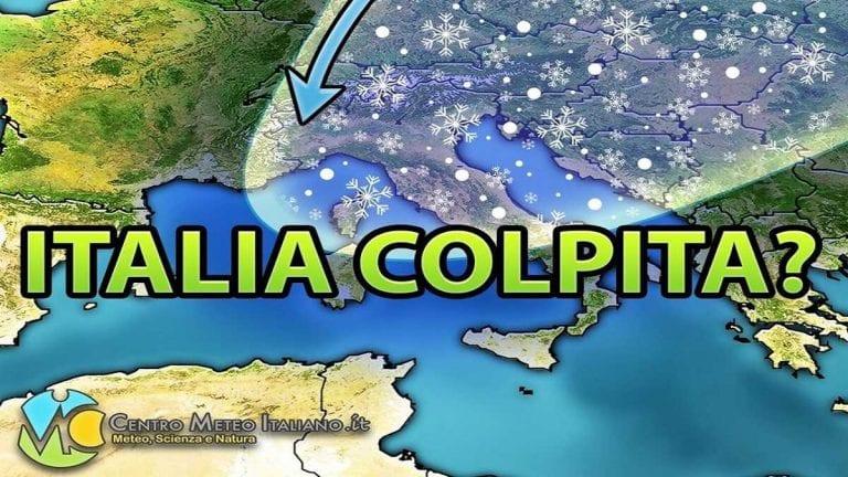 METEO – Aria CONTINENTALE in arrivo a brevissimo sull'ITALIA e tanto FREDDO su queste zone