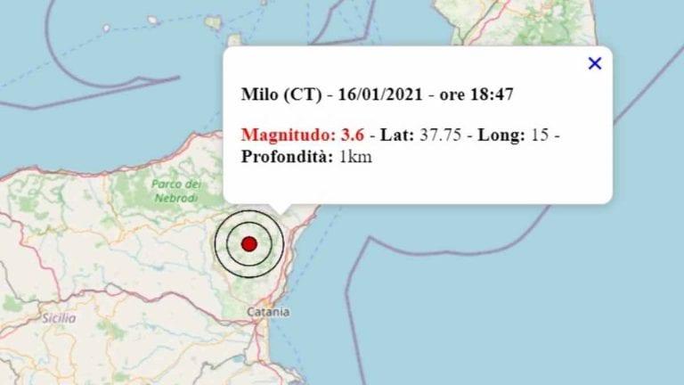 Terremoto oggi in Sicilia, 16 gennaio 2021: scossa M 3.4 in provincia di Catania – Dati INGV