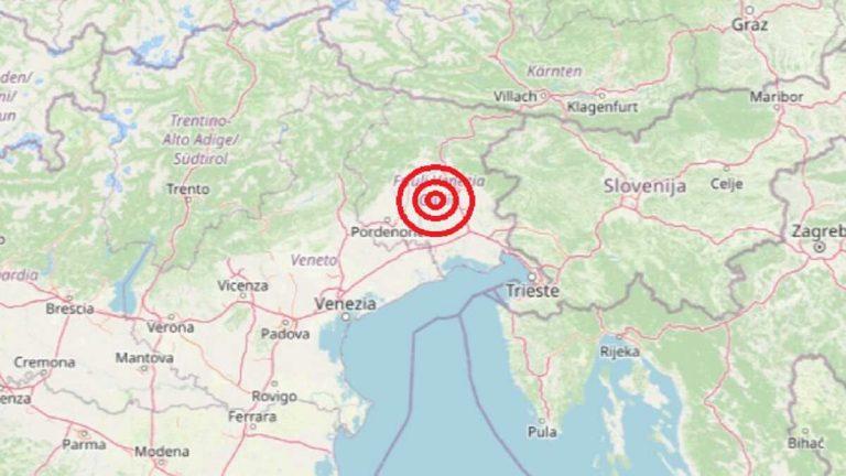 Terremoto oggi in Friuli Venezia Giulia, 17 gennaio 2021: scossa M 3.4 in provincia di Udine – Dati INGV