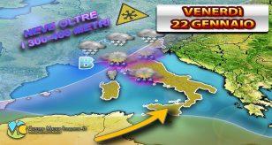 METEO ITALIA - Nel vivo del PEGGIORAMENTO tantissima ACQUA e NEVE nelle prossime ore sullo STIVALE
