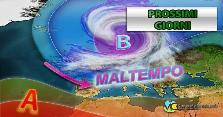 METEO MILANO – WEEKEND perturbato con precipitazioni anche intense, i dettagli