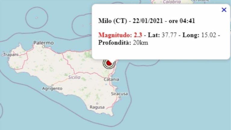 Terremoto in Sicilia oggi, 22 gennaio 2021: scossa M 2.3 provincia di Catania – Dati Ingv