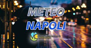 Grafica per le piogge per le previsioni meteo di napoli del centro meteo italiano