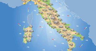 Tempo previsto in Italia per le prossime 24 ore