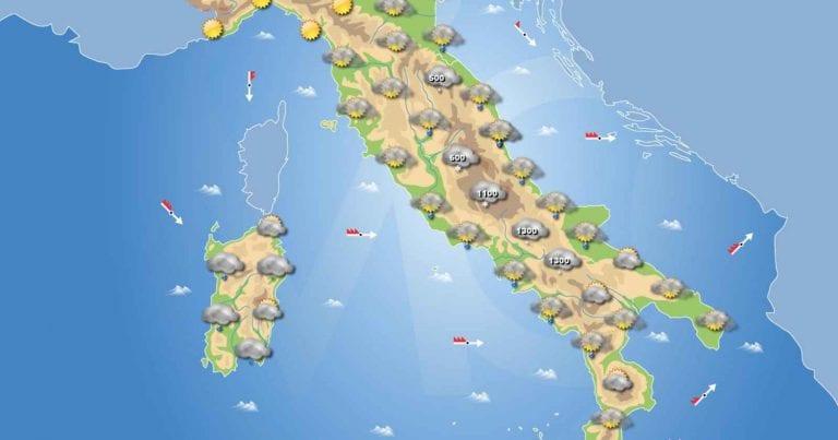 PREVISIONI METEO domani 25 Gennaio 2021: Giornata di MALTEMPO in arrivo, con TEMPERATURE in CALO