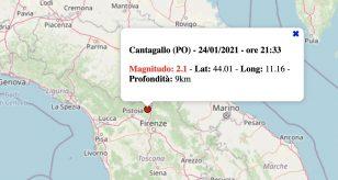 Le scosse di terremoto in Italia di domenica 24 gennaio 2021