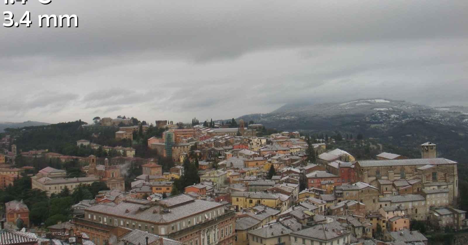Neve a Perugia, 25 Gennaio 2021.