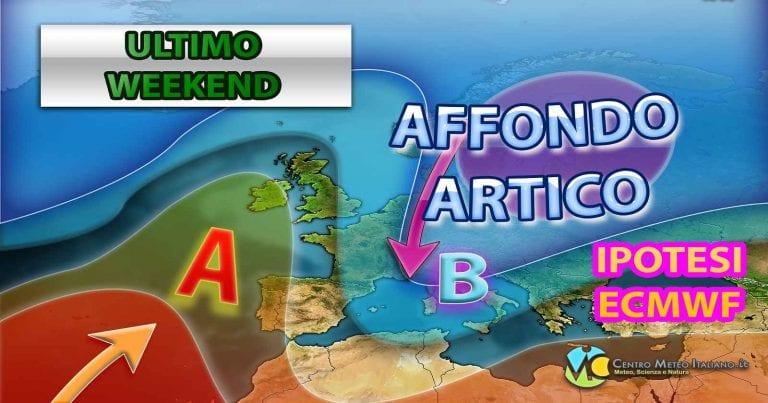 METEO ITALIA: breve pausa poi torna il MALTEMPO nel WEEKEND