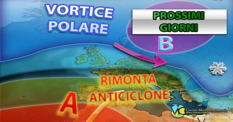METEO ITALIA – Breve rimonta ANTICICLONICA ma il MALTEMPO è dietro l'angolo, ecco le previsioni