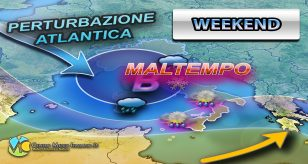 METEO - IRRUZIONE POLARE nel WEEKEND con forte MALTEMPO in arrivo, ecco i dettagli