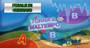 Peggioramento meteo previsto nel weekend con piogge e temporali