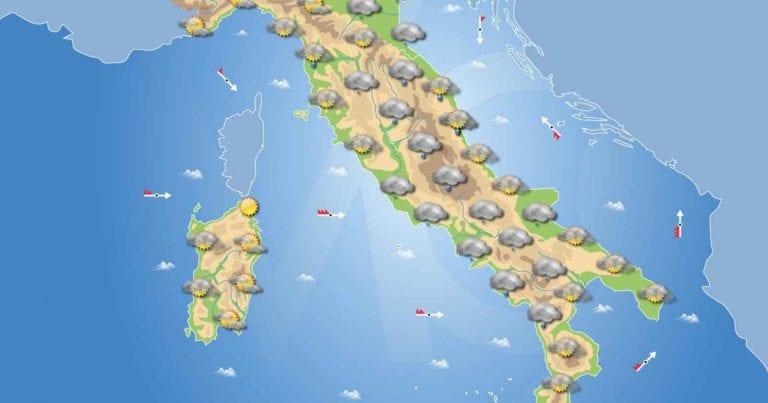 PREVISIONI METEO domani 29 Gennaio 2021: Maltempo in arrivo in Italia con piogge diffuse