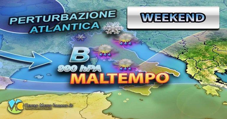 METEO – ATTACCO POLARE in arrivo nel WEEKEND in ITALIA: atteso forte MALTEMPO e NEVICATE in montagna, i dettagli