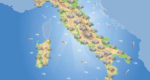 Nubi in aumento in Italia e maltempo diffuso