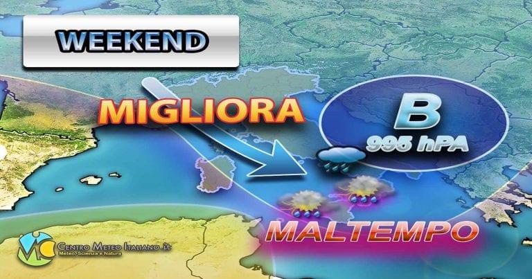 METEO: arriva il MALTEMPO in ITALIA, ulteriore rincaro nel WEEKEND