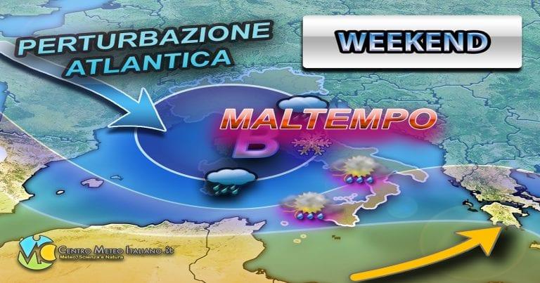 METEO – WEEKEND di MALTEMPO sull'ITALIA, è in arrivo un'intensa perturbazione