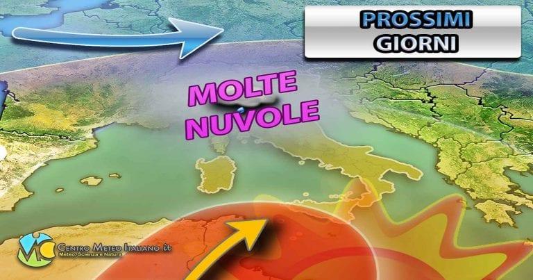 METEO GENOVA – Stabile in Italia nei prossimi giorni eccetto in LIGURIA con NUBI e PIOGGE sparse