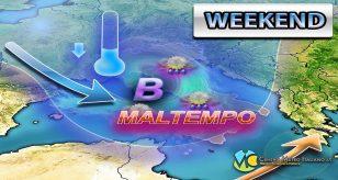 METEO - AFFONDO PERTURBATO in arrivo nel WEEKEND, torna il MALTEMPO sull'ITALIA con CALO TERMICO, ecco i dettagli