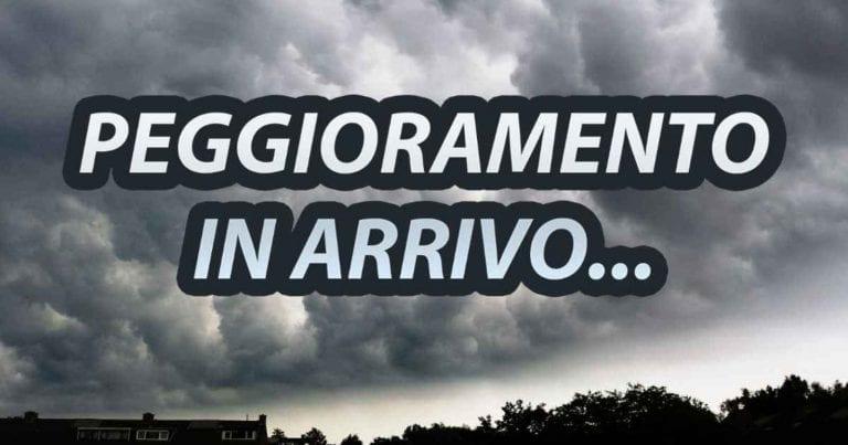 METEO – Imminente PEGGIORAMENTO sull'ITALIA, sarà un avvio di settimana PERTURBATO