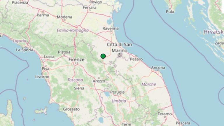 Terremoto in Emilia-Romagna oggi, domenica 21 febbraio 2021: scossa M 2.2 provincia di Forlì-Cesena | Dati ufficiali INGV