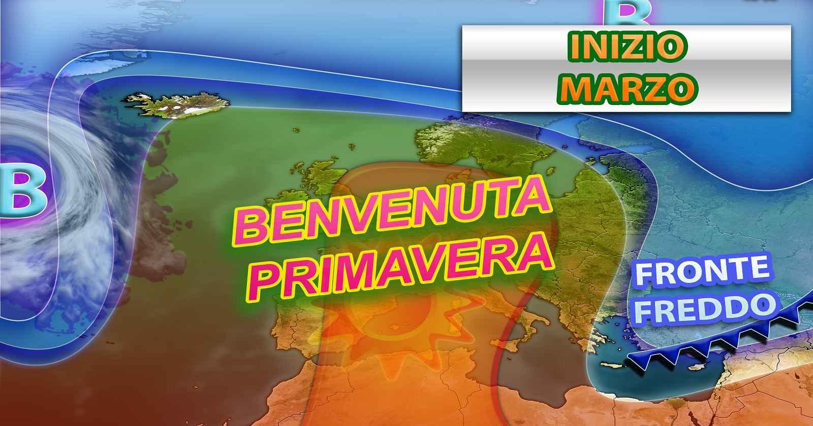 La Primavera avanza grazie all'anticiclone previsto fino all'inizio di Marzo - grafica a cura del Centro Meteo Italiano
