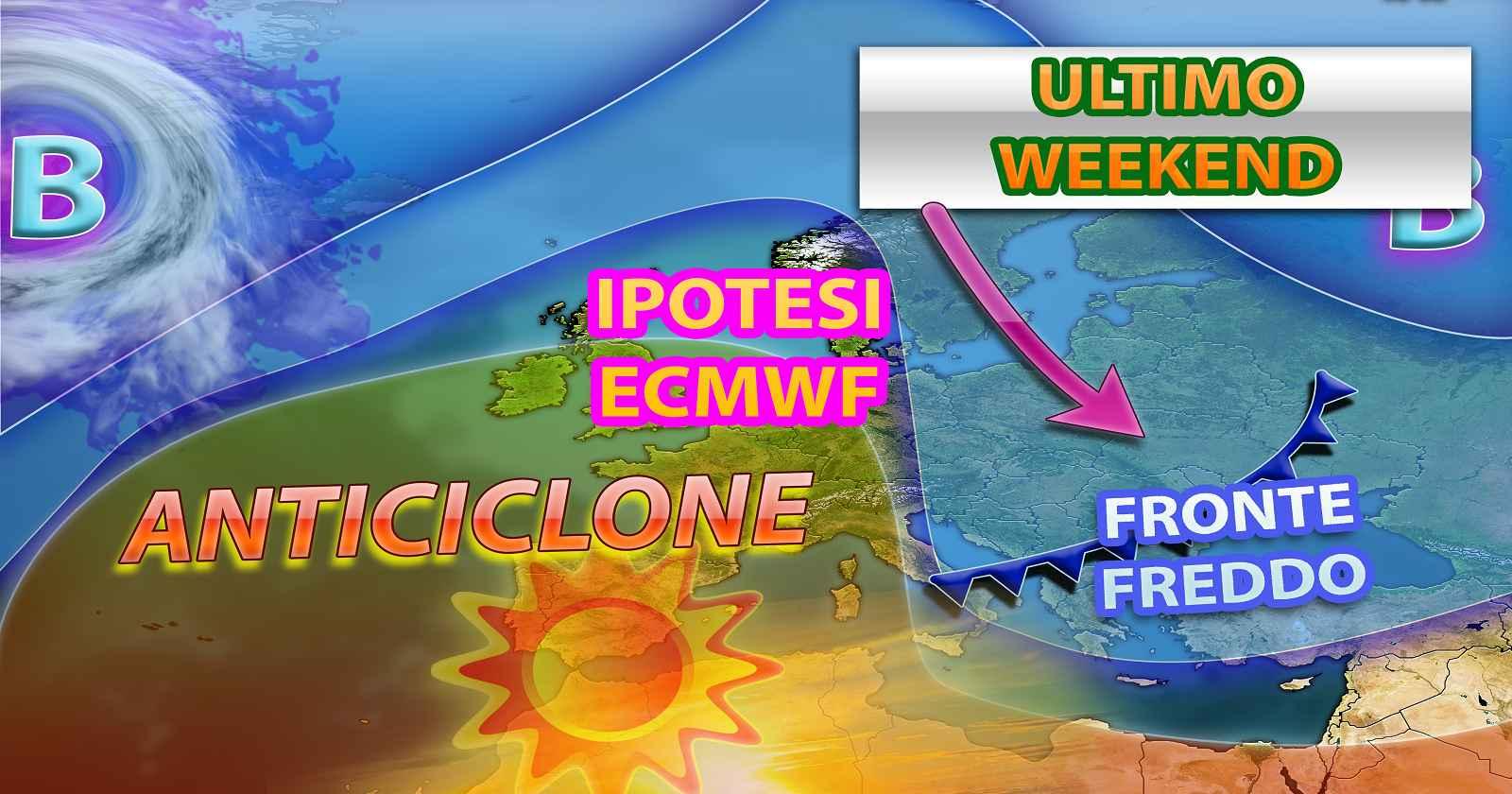 Ultimi aggiornamenti che avanzano l'ipotesi di un rapido fronte freddo nel weekend
