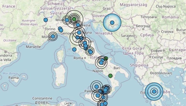 Terremoto in Trentino-Alto Adige oggi, lunedì 22 febbraio 2021: sequenza sismica vicino Trento | Dati INGV