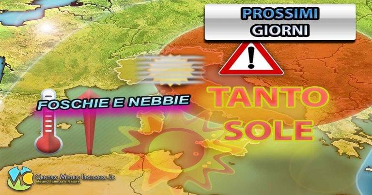 METEO ITALIA: domina l'alta pressione, nel WEEKEND non escluso qualche disturbo