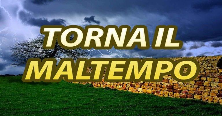 METEO – MALTEMPO in arrivo sull'ITALIA con PIOGGE ABBONDANTI e rischio TEMPORALI, ecco dove e quando