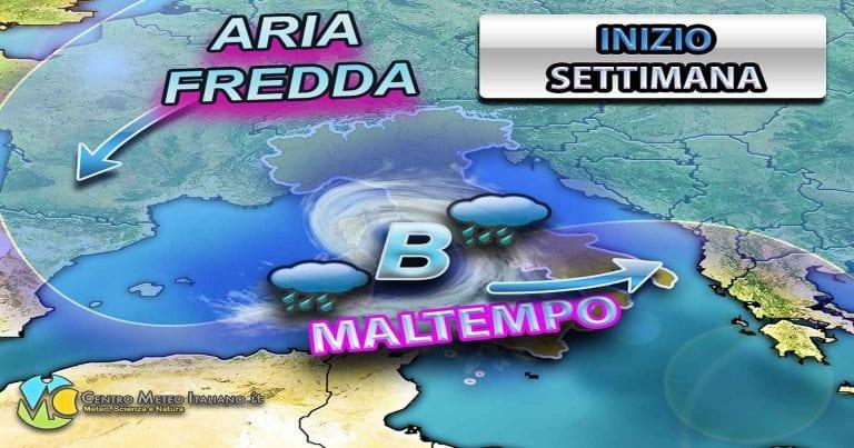 METEO ITALIA – Tempo in graduale peggioramento, da DOMANI atteso nuovo MALTEMPO su molte regioni