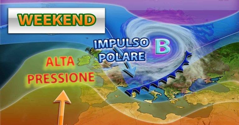 METEO ITALIA – Irrompe l'ARIA FREDDA, acquazzoni e quota NEVE in calo; i dettagli