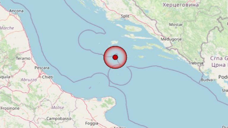 Terremoto in Puglia oggi, martedì 4 maggio 2021: scossa M. 3.4 Mar Adriatico | Dati INGV