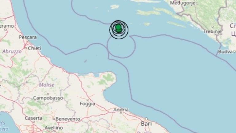 Terremoto in Puglia oggi, 31 marzo 2021: diverse scosse nel Mar Adriatico centrale | Dati Ingv
