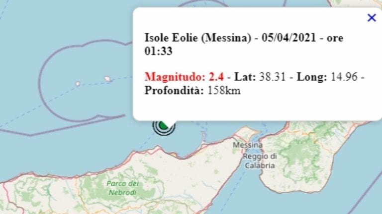 Terremoto in Sicilia oggi, 5 aprile 2021: scossa m 2.4 alle isole Eolie – Dati Ingv