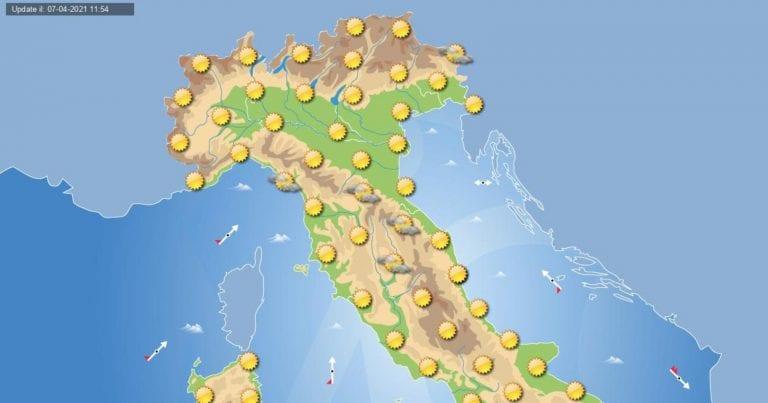 PREVISIONI METEO domani 8 aprile 2021: tutto sole in ITALIA ma con GELO al primo mattino