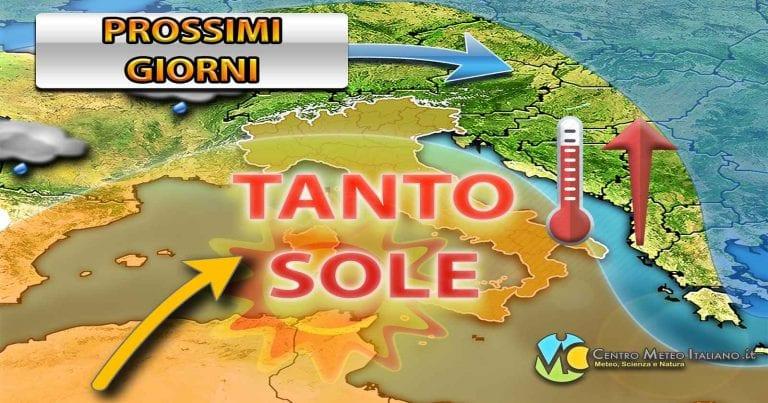 METEO – L'ANTICICLONE torna a spingere verso l'ITALIA, nuova ripresa delle TEMPERATURE e tempo migliore, ecco quando
