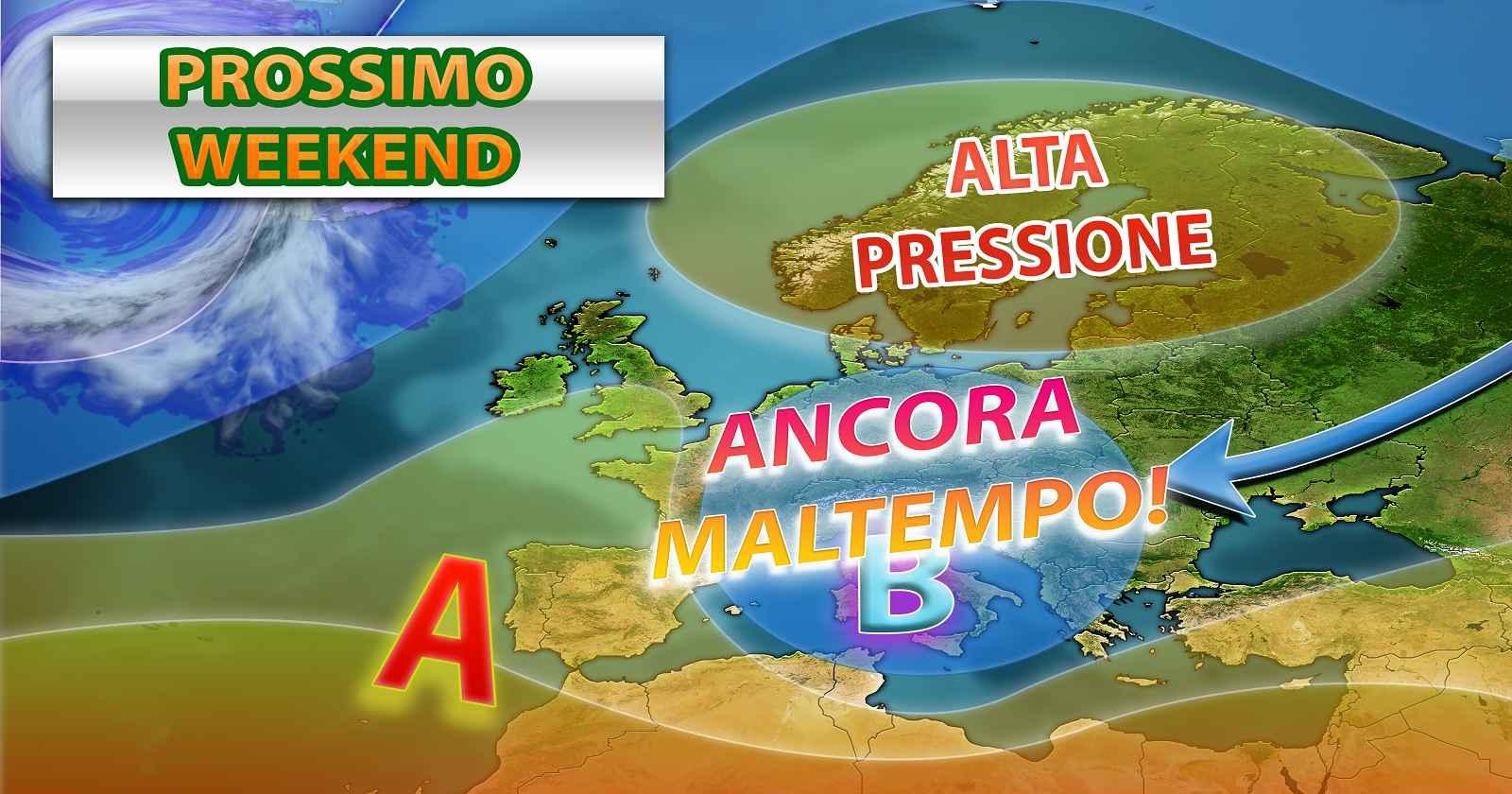 Previsioni meteo per l'Italia.