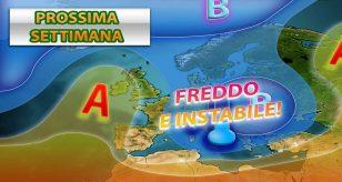 Freddo e instabilità protratti per la prossima settimana - Centro Meteo italiano