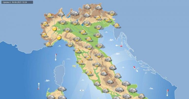 PREVISIONI METEO domani 17aprile 2021: Piogge al sud ITALIA, per il resto tempo stabile