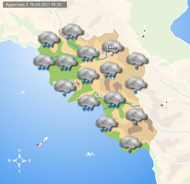 Forte maltempo in arrivo per la giornata di Domenica 18 Aprile 2021 - Centro Meteo Italiano