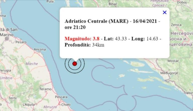 Terremoto oggi Italia, 16 aprile 2021: in serata scossa M 3.8 avvertita nelle Marche – Dati INGV